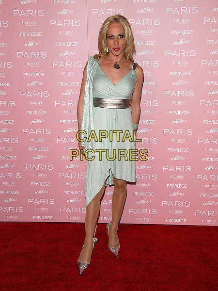 ALEXIS ARQUETTE.At The Paris Hilton CD Release Party held at Privelege in West Hollywood, California, USA, August 18, 2006..full length pale green dress.Ref: DVS.www.capitalpictures.com.sales@capitalpictures.com.©Debbie VanStory/Capital Pictures