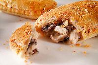 Chicken & Mushroom pastry slice - Traditional British food