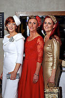 Pictured at the Christmas in Killarney Fashion Show in the Aghadoe Heights Hotel on Thursday night were from left,Elaine Kelleher, Mags Healy and Joan Murphy from Kilgarvan.<br /> Picture by Don MacMonagle<br /> <br /> PR Photo from CIK