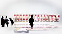 Illustration Ambiance / Andy Warhol - Boites de Soupe Campbell<br /> Guitare electrique Fender Stratocaster<br /> Parigi 16-10-2017 MoMa <br /> Esposizione Arte moderna <br /> Foto JB Autissier / Panoramic / Insidefoto
