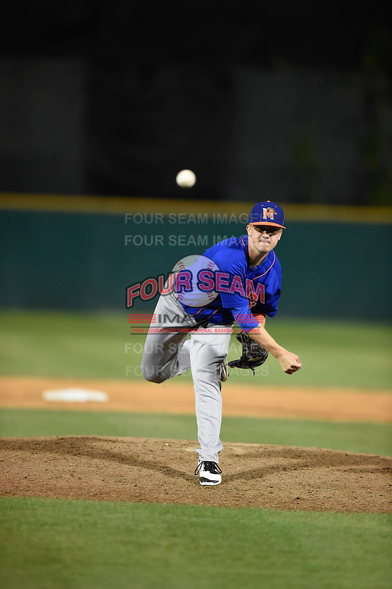 ***Temporary Unedited Reference File***Midland RockHounds relief pitcher Sam Bragg (13) during a game against the San Antonio Missions on April 21, 2016 at Nelson W. Wolff Municipal Stadium in San Antonio, Texas.  Midland defeated San Antonio 9-2.  (Mike Janes/Four Seam Images)