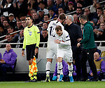 Tottenham's Eric Dier gets substituted by Christian Eriksen during the UEFA Champions League match at the Tottenham Hotspur Stadium, London. Picture date: 26th November 2019. Picture credit should read: David Klein/Sportimage