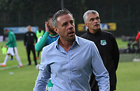 BOGOTÁ - COLOMBIA, 10-02-2019:Lucas Pusineri director técnico del Deportivo Cali durante su encuentro contra La Equidad partido por la fecha 4 de la Liga Águila I 2019 jugado en el estadio Metropolitano de Techo de la ciudad de Bogotá. / Lucas Pusineri coach of Deporivo Cali during match agaisnt of Equidad during the match for the date 4 of the Liga Aguila I 2019 played at the Metropolitano de Techo  stadium in Bogota city. Photo: VizzorImage / Felipe Caicedo / Staff.