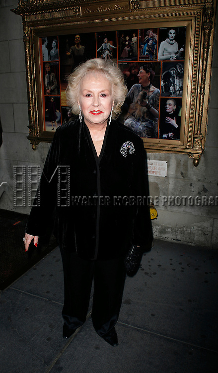 Doris Roberts arriving for the Opening Night Performance of DEUCE at the Music Box Theatre in New York City.<br /> May 6, 2007