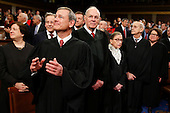 The Supreme Court Justices arrives before the State of the Union address to a joint session of Congress on Capitol Hill in Washington, Tuesday, Jan. 12, 2016.<br /> Credit: Evan Vucci / Pool via CNP