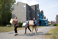 Amanda Magnusen, Ismael Ortiz, and Brian Gonzalez move into the UAA residence halls the week before the 2019 Fall Semester.