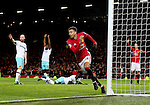 Jesse Lingered of Manchester United turns to celebrate before realising he is offside during the Premier League match at the Old Trafford Stadium, Manchester. Picture date: November 27th, 2016. Pic Simon Bellis/Sportimage