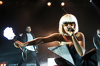 Grammy nominated American singer-songwriter Lady GaGa performs to a sold out crowd on the first stop of The Fame Ball tour, Wednesday, March 18th, 2009,  at the Commodore Ballroom in Vancouver. (Scott Alexander/pressphotointl.com)