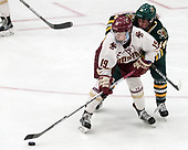 Makenna Newkirk (BC - 19), Ali O'Leary (UVM - 14) -  The Boston College Eagles defeated the University of Vermont Catamounts 4-3 in double overtime in their Hockey East semi-final on Saturday, March 4, 2017, at Walter Brown Arena in Boston, Massachusetts.
