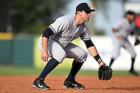 Tampa Yankees third baseman Eric Jagielo (20) during a game against the Lakeland Flying Tigers on April 5, 2014 at Joker Marchant Stadium in Lakeland, Florida.  Lakeland defeated Tampa 3-0.  (Mike Janes/Four Seam Images)