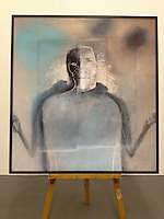 "ROLLED Man Crying, 59 3/4"" x 55 3/4"" x 2 1/2"", Digital Print on Canvas, ROLLED RENTAL, Matte Finish"