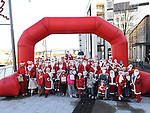 The start of the Santa Run at Scotch Hall. Photo: Colin Bell/pressphotos.ie