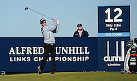 Wade Ormsby of Australia tees off during Round 1 of the 2015 Alfred Dunhill Links Championship at the Old Course, St Andrews, in Fife, Scotland on 1/10/15.<br /> Picture: Richard Martin-Roberts | Golffile