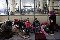 Pictured: Refugees of all ages at the Helliniko camp Friday 26 February 2016<br />