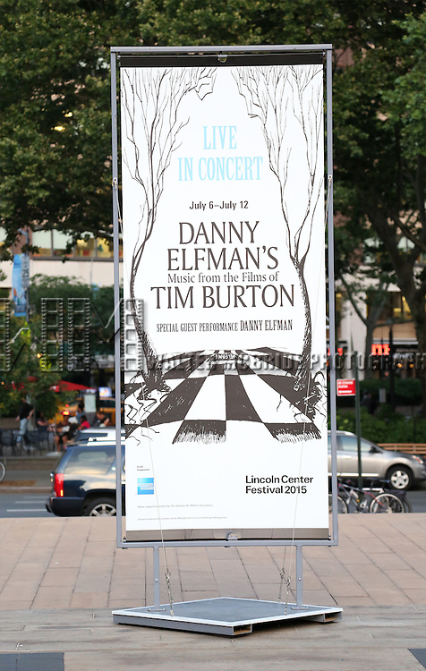 'Danny Elfman's Music From The Films Of Tim Burton' - 2015 Lincoln Center Festival Opening Night at Josie Robertson Plaza at Lincoln Center on July 6, 2015 in New York City.
