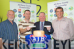 DRAW: Members of the Kerry County Board and AIB Sponsors of the Hurling drawing teams at Radio Kerry on Saturday.l-r: Sean Murnane (Kilmoyley), Ferrgus Courtney(AIB), Jerome Conway (Kerry County Board) and Joe Walsh (Hurling Officer).....