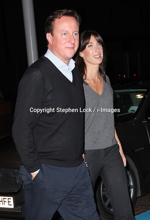 Prime Minister David Cameron and his wife Samantha arriving at the Conservative Party Conference hotel in Birmingham, Saturday 6th October 2012. Photo by: Stephen Lock / i-Images