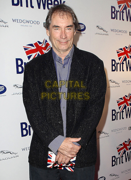 "Timothy Dalton.7th Annual BritWeek Festival ""A Salute To Old Hollywood"" Launch Party held at the British Consul General's Residence, Los Angeles, California, USA..April 23rd, 2013.half length suit jacket black purple shirt.CAP/ADM/KB.©Kevan Brooks/AdMedia/Capital Pictures"