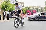 World Champion Tom Dumoulin (NED) Team Sunweb recons the course before Stage 1 of the 101st edition of the Giro d'Italia 2018 an individual time trial of 9.7km around Jerusalem, Israel. 4th May 2018.<br /> Picture: LaPresse/Massimo Paolone | Cyclefile<br /> <br /> <br /> All photos usage must carry mandatory copyright credit (&copy; Cyclefile | LaPresse/Massimo Paolone)