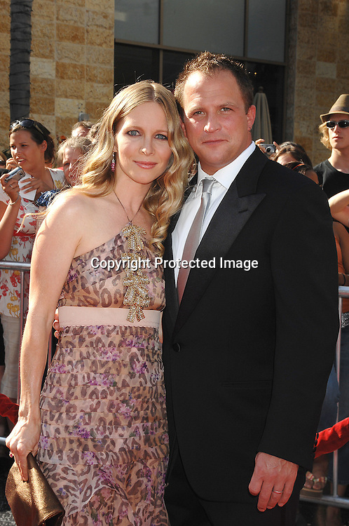 Lauralee Bell in Blumarine and husband Scott Martin ..arriving at The 34th Annual Daytime Emmy Awards on ..June 15, 2007 at The Kodak Theatre in Hollywood, California. ..Robin Platzer, Twin Images......212-935-0770