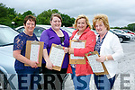 Enjoying the Drive in Bingo in aid of Gaelscoil Aogáin at the Castleisland Mart on Sunday were Mag O'Connor, Stephanie Leahy, Sandra O'Brian and Ann Leahy