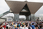 Thousand of visitors attend the ''Comic Market 88 Summer 2015'' exhibition at Tokyo Big Sight on August 14, 2015, Tokyo, Japan. Thousands of manga and anime fans attended the first day of the Comic Market 88 (Comiket) at Tokyo Big Sight. The Comic Market was established in 1975 to allow fans and artists to interact and focuses on manga, anime, gaming and cosplay. The exhibition is held from August 14th to 16th and Comiket organisers expect more than 500,000 visitors to attend. (Photo by Rodrigo Reyes Marin/AFLO)