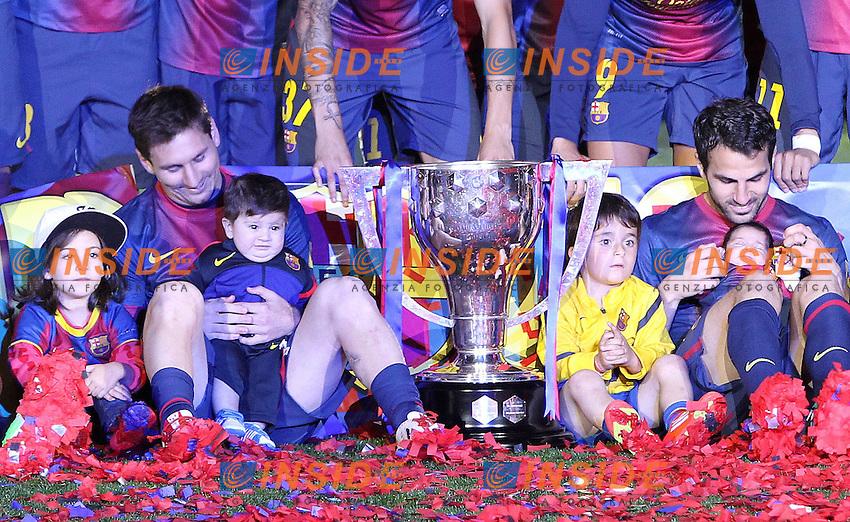 LIONEL MESSI (barcelone) .Barcellona Campione di Spagna .Football Calcio 2012/2013.La Liga Spagna.Foto Panoramic / Insidefoto .ITALY ONLY