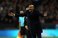 Internazionale head coach Luciano Spalletti during Tottenham Hotspur vs Inter Milan, UEFA Champions League Football at Wembley Stadium on 28th November 2018