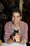Jeremy Jordan at the 27th Annual Broadway Flea Market & Grand Auction to benefit Broadway Cares/Equity Fights Aids in Shubert Alley, New York City, New York.  (Photo by Sue Coflin/Max Photos)