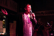 April 9, 2012. Raleigh, NC.. Steve Brady.. A stand up comedy event was held at Tir Na Nog with a sparse audience.