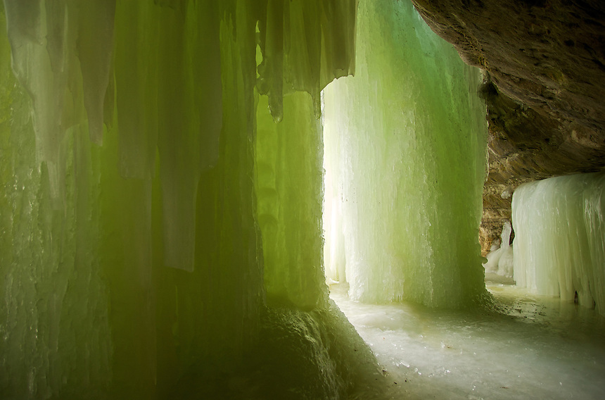 The Eben Ice Caves located near Eben, MI in the Upper Peninsula.