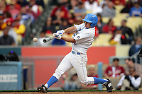 February 28 2010: Marc Navarro of UCLA during game against USC at Dodger Stadium in Los Angeles,CA.  Photo by Larry Goren/Four Seam Images