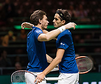 Rotterdam, The Netherlands, 17 Februari, 2018, ABNAMRO World Tennis Tournament, Ahoy, Tennis, Doubles semi final: Pierre-Huges Herbert (FRA) and his partner Nicolas Mahut (FRA) (L) trough to the final<br /> Photo: www.tennisimages.com