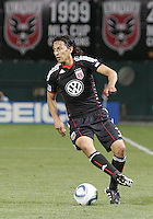 Juan Manuel Pena #3 of D.C. United brings the ball under control of the Colorado Rapids during an MLS match on May 15 2010, at RFK Stadium in Washington D.C. Colorado won 1-0.