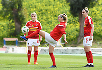 20190304 - LARNACA , CYPRUS : Austrian Elisabeth Mayr (left) , Sarah Puntigam (middle) and Katharina Schiechtl (r) pictured during warming up a women's soccer game between Slovakia and Austria , on Monday 4 th March 2019 at the GSZ Stadium in Larnaca , Cyprus . This is the third and last game in group C for both teams during the Cyprus Womens Cup 2019 , a prestigious women soccer tournament as a preparation on the Uefa Women's Euro 2021 qualification duels. PHOTO SPORTPIX.BE | DAVID CATRY