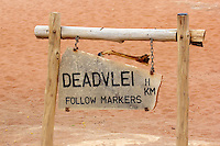 Sign to Deadvlei, Namibia