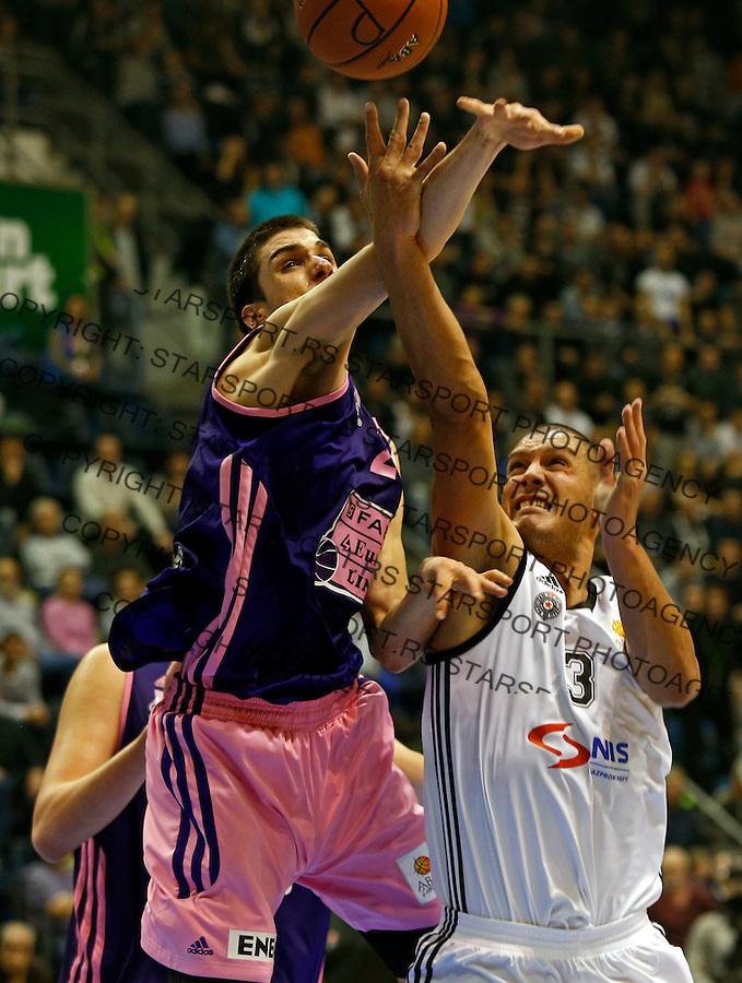Aleksandar Pavlovic ABA liga, Partizan - Mega Leks, Beograd, Srbija, 7.12.2014 (credit image & photo: Pedja Milosavljevic / STARSPORT). © 2014 Pedja Milosavljevic / +318 64 1260 959 / thepedja@gmail.com