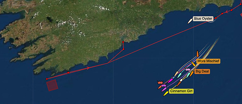 Fastnet 450 race course tracker