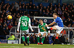 05.02.2020 Rangers v Hibs: Scott Arfield tries a shot