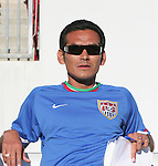 Raul Diaz Arce, U.S. U-17 national team assistant coach and former El Salvador international, on Sunday, March 25th, 2007 at Raymond James Stadium in Tampa, Florida. The United States Men's Under 17 National Team defeated El Salvador in a U-17 international friendly.