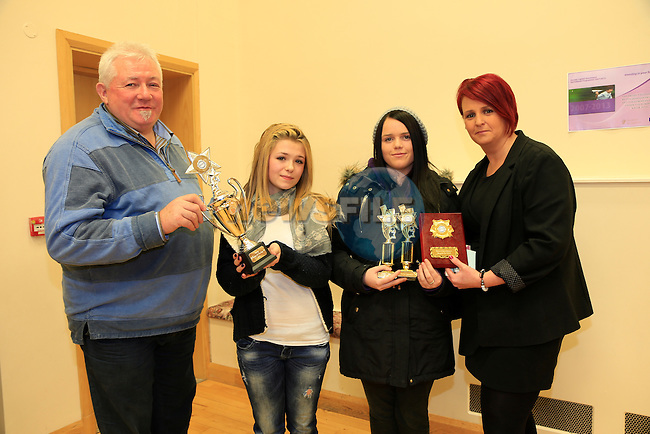 Kevin Matthews Stacey Campbell Hannah Bird and Denise Touhy at the Boyne Garda Youth Project awards night<br /> Picture: Fran Caffrey www.newsfile.ie