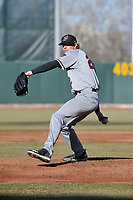 Quad Cities River Bandits starting pitcher Tyler Ivey (22) throws a pitch against the Cedar Rapids Kernels at Veterans Memorial Stadium on April 7, 2018 in Cedar Rapids, Iowa. The Kernels won 4-3.  (Dennis Hubbard/Four Seam Images)