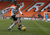 Burton Albion's Jake Hesketh shields the ball from Blackpool's Marc Bola<br /> <br /> Photographer Stephen White/CameraSport<br /> <br /> The EFL Sky Bet League One - Blackpool v Burton Albion - Saturday 24th November 2018 - Bloomfield Road - Blackpool<br /> <br /> World Copyright © 2018 CameraSport. All rights reserved. 43 Linden Ave. Countesthorpe. Leicester. England. LE8 5PG - Tel: +44 (0) 116 277 4147 - admin@camerasport.com - www.camerasport.com