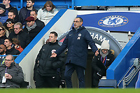 Chelsea Manager, Maurizio Sarri  during Chelsea vs Huddersfield Town, Premier League Football at Stamford Bridge on 2nd February 2019
