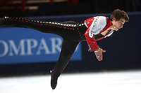 November 19, 2005; Paris, France; Figure skating star BRIAN JOUBERT of France skates to silver in mens figure skating at Trophee Eric Bompard, ISU Paris Grand Prix competition.  Joubert is one of the favorites in mens leading up to Torino 2006 Olympics.<br />Mandatory Credit: Tom Theobald/<br />Copyright 2005 Tom Theobald