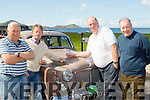 Polish and Shine<br /> -----------------------<br /> Taking part in the KVV&amp;CCC annual Ring of Kerry last weekend, pictured in Waterville Sunday morning after their overnight stop were L-R Michael Leahy, Richard Walsh, Con Spring and Declan Ryan.