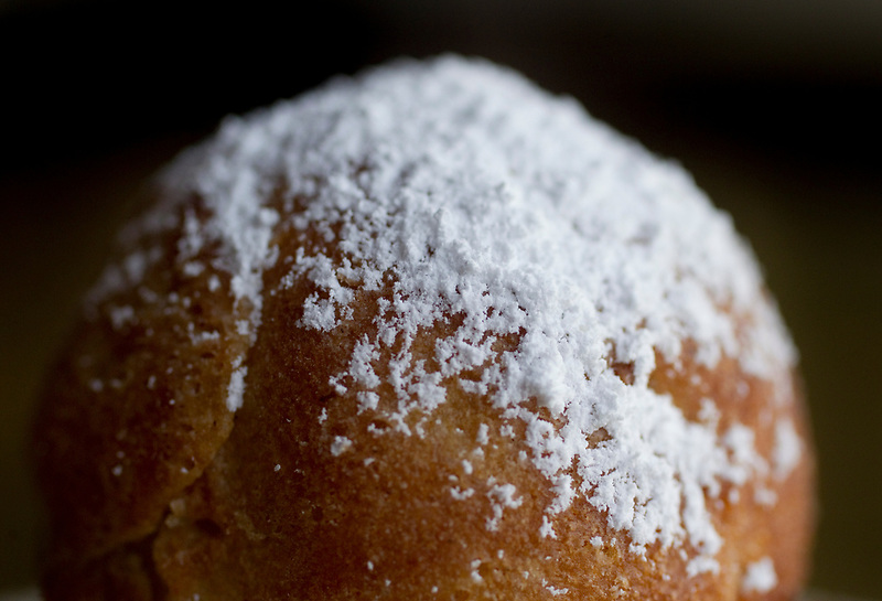 A powdered doughnut at Broder Nord in Portland