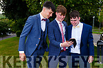 Tadgh Brick, Brendan Walsh and Barry Lyons attending the Presentation Tralee Debs in the Ballyroe Hotel on Tuesday.