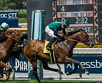 ARCADIA, CA APRIL 22:  #4 Inordinate ridden by Corey Nakatani, wins the San Juan Capistrano Stakes (Grade lll) on April 22, 2017 at Santa Anita Park in Arcadia, CA.(Photo by Casey Phillips/Eclipse Sportswire/Getty Images)