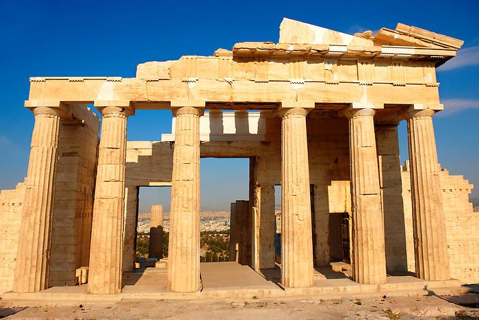 The Propylaea Monumental Gateway To Acropolis Athens Greece